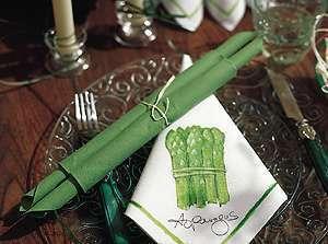 decoration mariage thème asie zen pliage serviette asperge