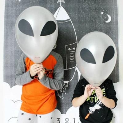 photobooth anniversaire astronaute ballon alien