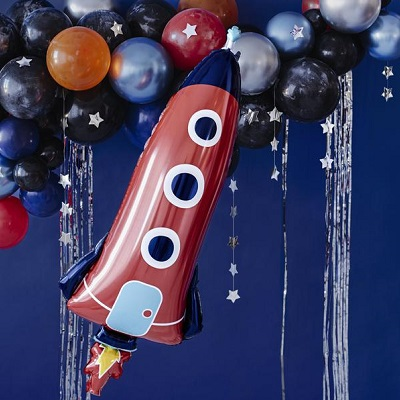 ballon fusée décoration anniversaire astronaute