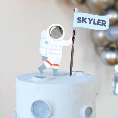cake topper astronaute gateau anniversaire espace