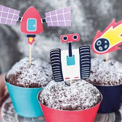 cake topper pour cupcake astronaute candy bar