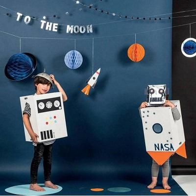 deguisement robot anniversaire astronaute espace