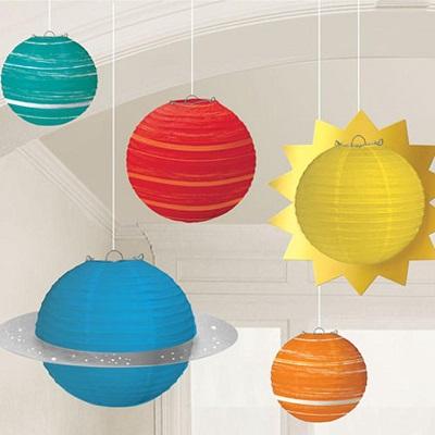 lampion planète soleil decoration anniversaire astronaute