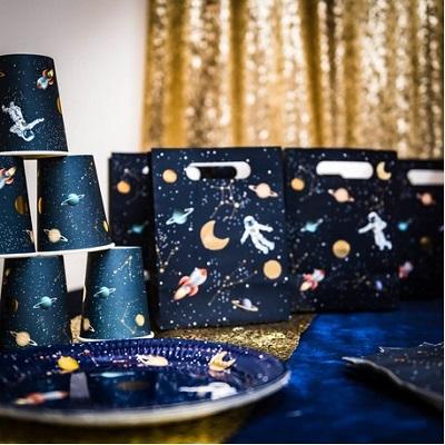 theme anniversaire astronaute vaisselle jetable