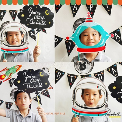 accessoire photoboth anniversaire astronaute
