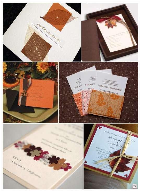 faire-part mariage automne feuille vegetal pochette tissu, broche boite 3 D
