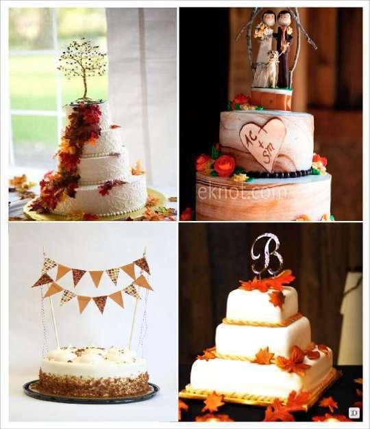decoration mariage automne figurine gateau banderole monogramme mini arbre