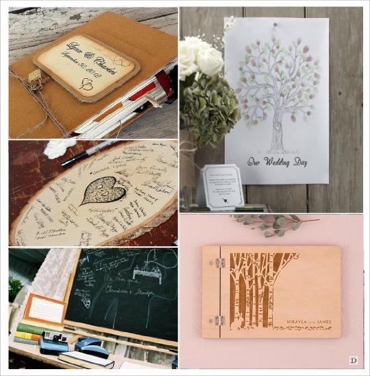 livre d'or automne en bois, tableau ardoise, arbre empreintes, rondin grave