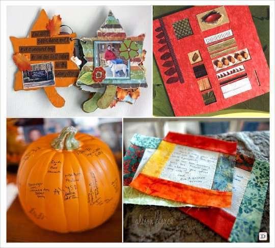 livre d'or automne feuille arbre scrapbooking, couverture patchwork, citrouille signature