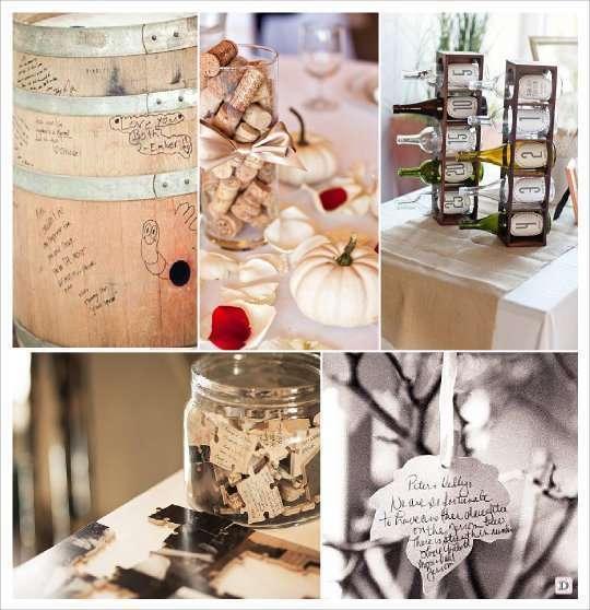 Theme mariage automne - Decoration avec des bouchons de liege ...