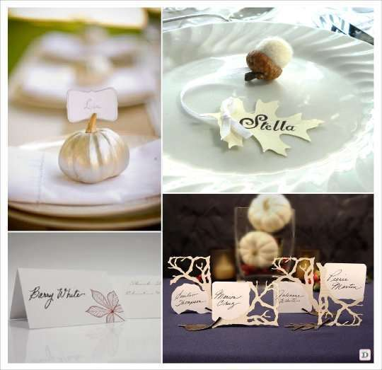 Theme mariage automne - Marque place mariage ...