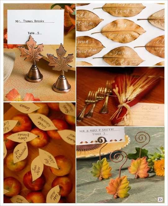 mariage automne marque place épi ble pomme feuille arbre