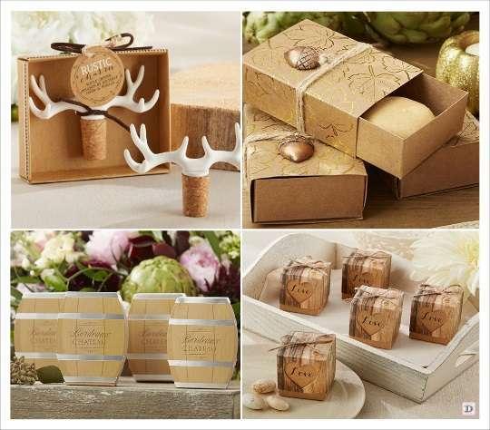 mariage automne cadeaux invités boite dragées barrique kraft écocrce boucchon stopper bois de cerf