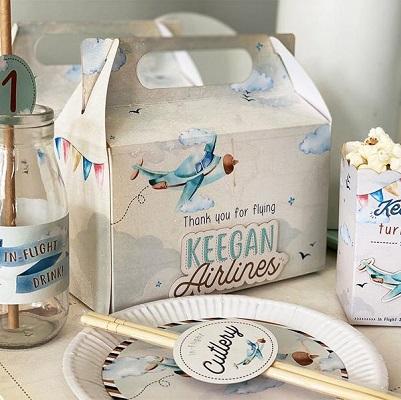 boite cadeau enfant anniversaire avion