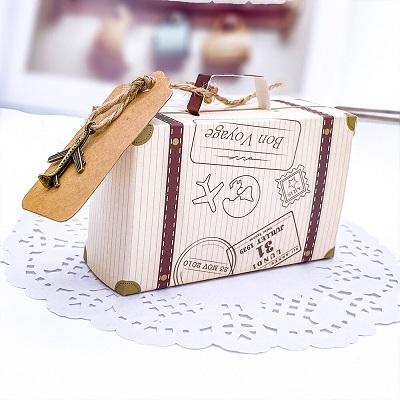 boite carton valise cadeau anniversaire avion voyage