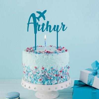 cake topper gateau anniversaire avion