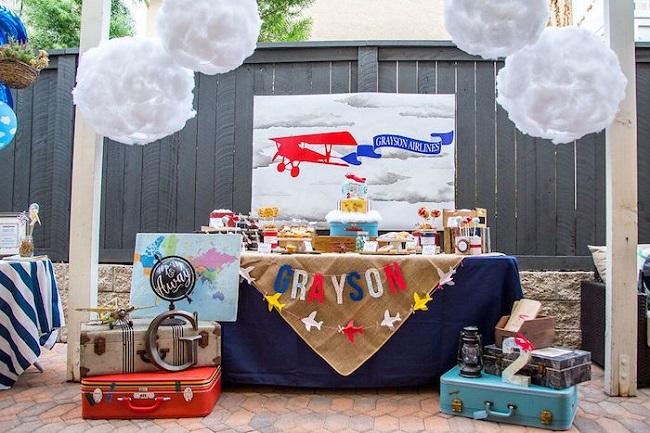 candy bar theme aviateur anniversaire