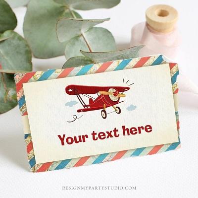 carte invitation anniversaire aviateur