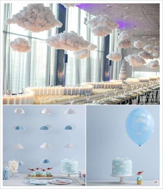 deco anniversaire aviateur deco salle nuage en coton ballon nuage mobile