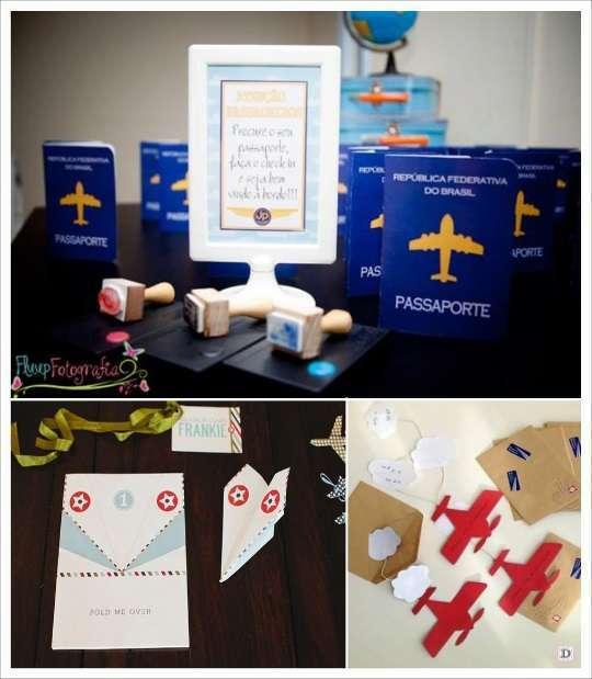 deco anniversaire aviateur invitation