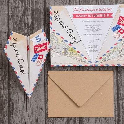 carton invitation anniversaire aviateur