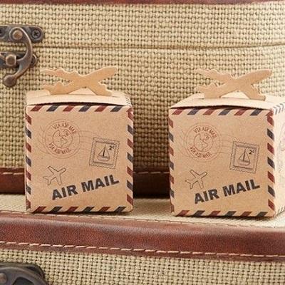 boite bonbons kraft avion cadeau anniversaire avion