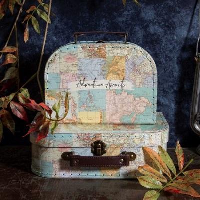 valise mappemonde decoration anniversaire avion