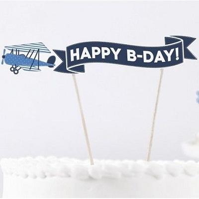 cake topper anniversaire avion