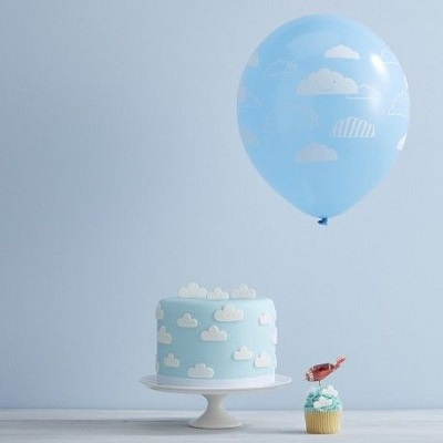 ballon nuage deco anniversaire avion