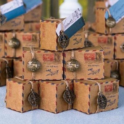 boite bonbons kraft air mail cadeau anniversaire avion