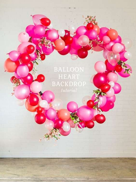 arche de ballons coeur mariage