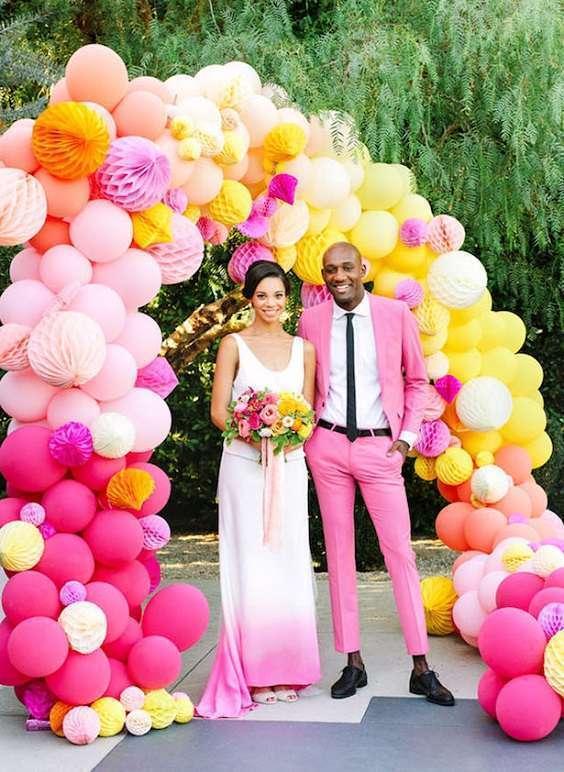 arche de ballons mariage portique