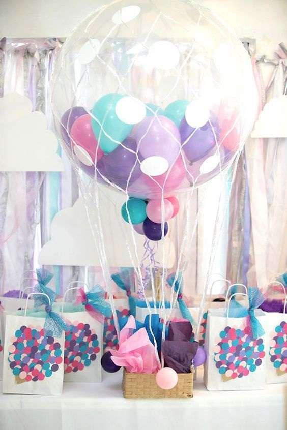 ballons geant rempli decoration table