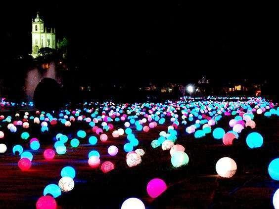 ballons batons phosphorescents lumineux