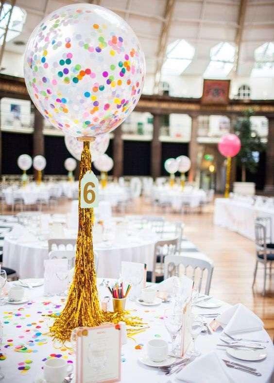 decoration table ballon confettis hélium