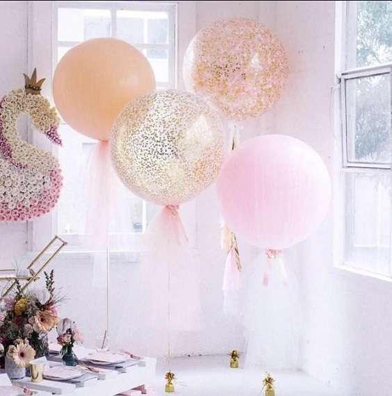 decoration salle ballons tulle deco salle