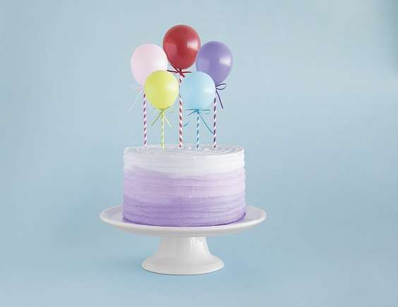 decoration gateau mini ballons cake topper