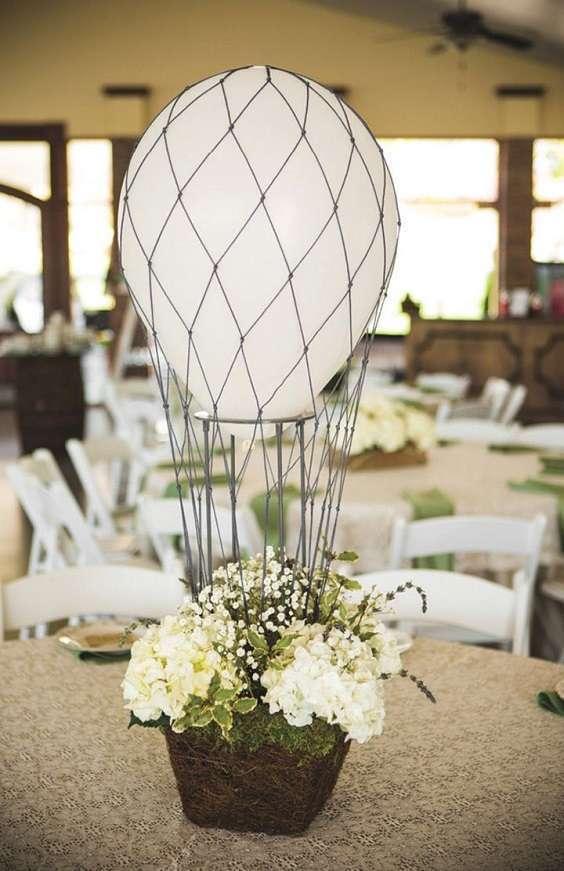 centre de table mariage montgolfière ballon
