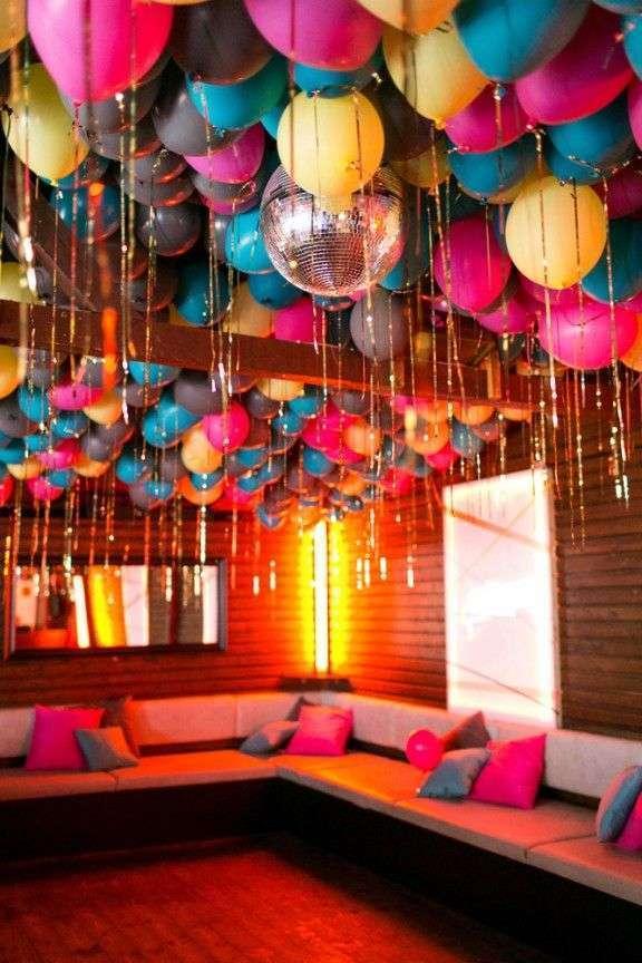 plafond de ballons mariage