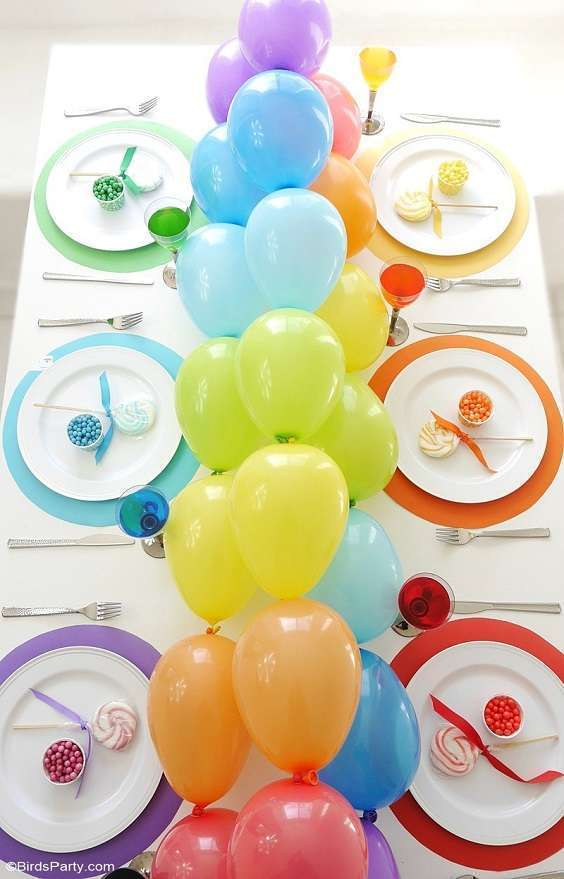 decoration table ballons guirlande