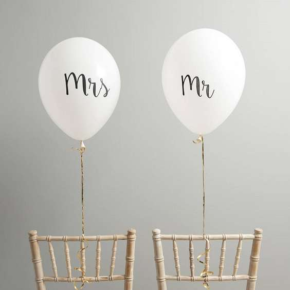 decoration chaise mariage ballons