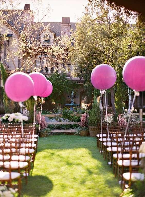 decoration bancs eglise ballons geants