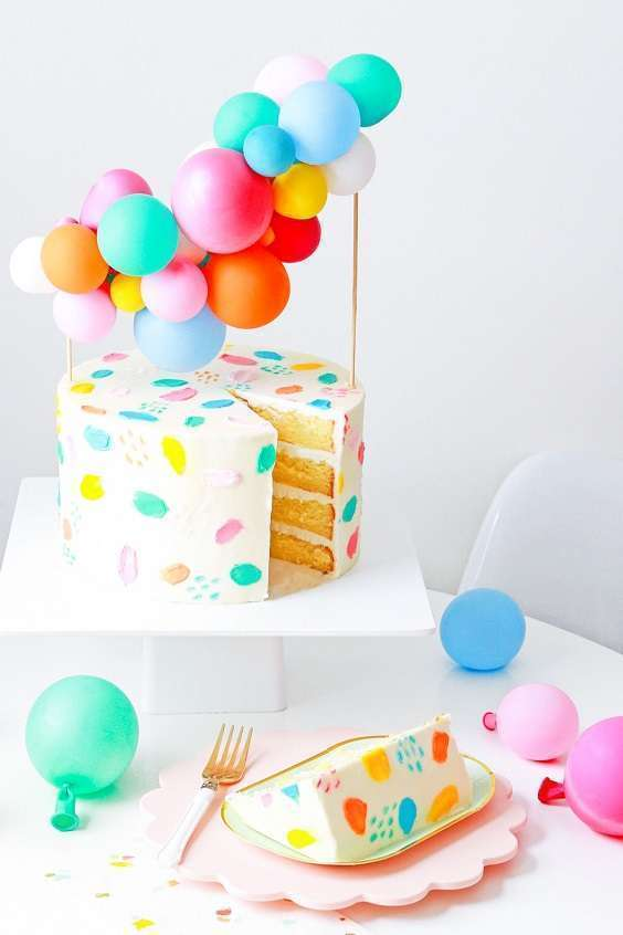 decoration gateau mini arche de ballons cake topper