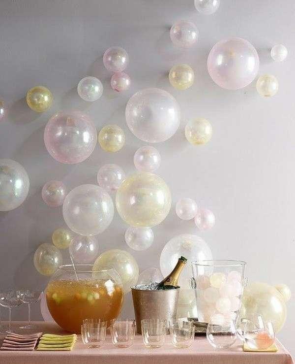 decoration salle ballons mur