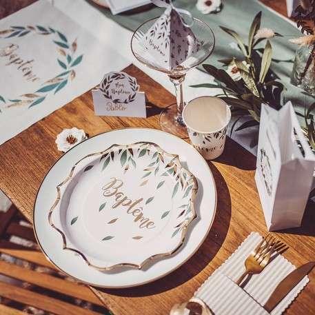 decoration table bapteme champetre garçon