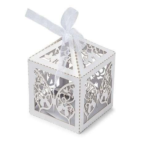 boite dragées papillon ajourée bapteme cadeau invité