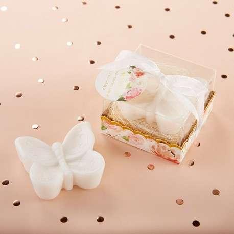 cadeau invités savon papillon decoration champetre chic