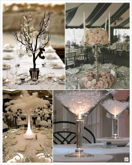 Decoration de table baroque centre de table baroque - Decoration chandelier pour mariage ...