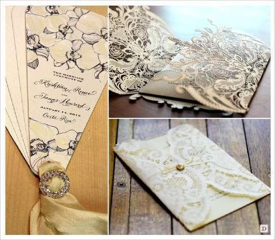 Favori decoration mariage baroque faire part GL78