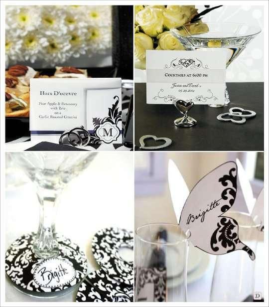Decoration mariage baroque marque place - Marque place coeur pied de verre ...